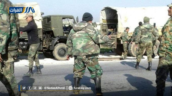من بين تعزيزاتها.. دفعة جديدة من ميليشيات الأسد تنطلق من ديرالزور.
