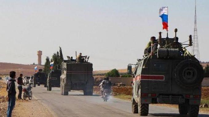 تسيير دورية للاحتلال الروسي شمال الحسكة.
