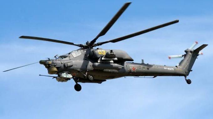 سقوط طائرة مروحية للاحتلال الروسي شمال الحسكة.