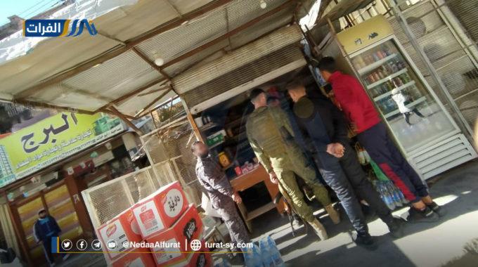 تجارة الخمور علناً وتحت إشراف عصابات الأسد في مدينة ديرالزور.